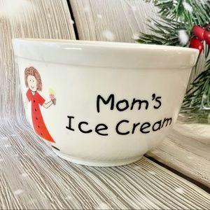 """Mom's Ice Cream"" Ceramic Bowl from Harry & David"
